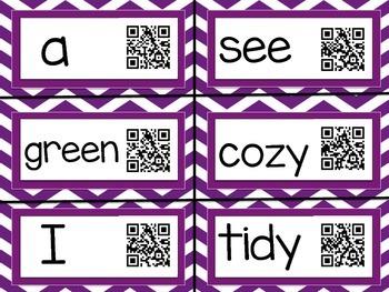 1st Grade Reading Street: Interactive Word Wall: Unit R  QR Codes