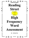 1st Grade Reading Street Sight Word Assessment