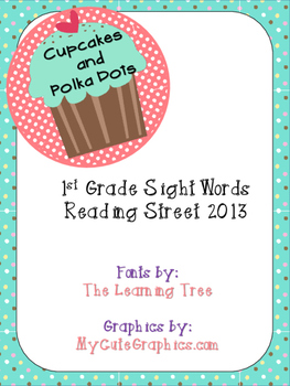 1st Grade Reading Street Sight Words
