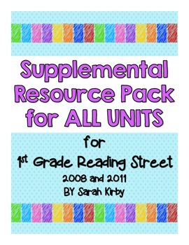 1st Grade Reading Street - Total Pack