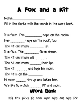 1st Grade Reading Street Unit 1 Comprehension Packet