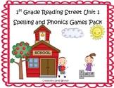 Reading Street 1st Grade Unit 1 Spelling & Phonics Game Pack (RF.1.3, L.CCR.2)