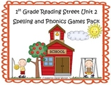 Reading Street 1st Grade Unit 2 Spelling & Phonics Game Pack (RF.1.3, L.CCR.2)