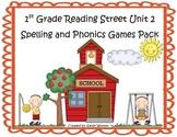 Reading Street 1st Grade Unit 2 Spelling & Phonics Game Pa