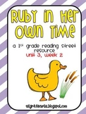 1st grade Reading Street Unit 3, week 2: Ruby in Her Own Time