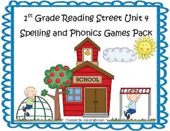Reading Street 1st Grade Unit 4 Spelling and Phonics Game Pack (RF.1.3, L.CCR.2)