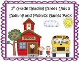 Reading Street 1st Grade Unit 5 Spelling & Phonics Games Pack (RF.1.3, L.CCR.2)