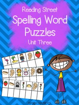 1st Grade Reading Street Unit Three Spelling