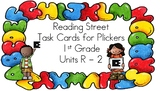 1st Grade Reading Street Units R-2 Task Cards for Plickers