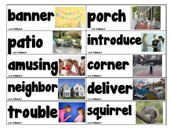 1st Grade Reading Street Amazing Words Vocabulary Word Wall Cards Unit R