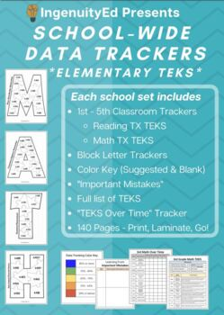 1st Grade Reading TEKS Data Tracker