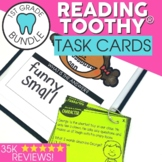 1st Grade Reading Comprehension Toothy® Task Cards Bundle   Reading Centers