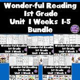 1st Grade Reading Unit 1 Bundle