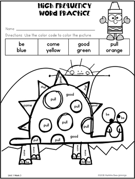 1st Grade Reading Unit 1 Week 3