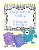 1st Grade Reading Partner Reading Charts & Teaching Points