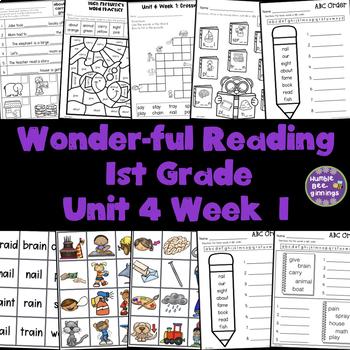 1st Grade Reading Unit 4 Week 1