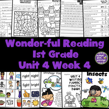 1st Grade Reading Unit 4 Week 4
