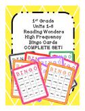 1st Grade Reading Wonders COMPLETE SET UNIT 1-6 High Frequency BINGO!