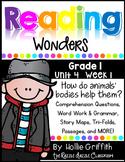 1st Grade Reading Wonders {Grade 1, Unit 4, Week 1}