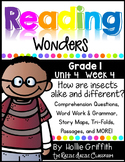 1st Grade Reading Wonders {Grade 1, Unit 4, Week 4}