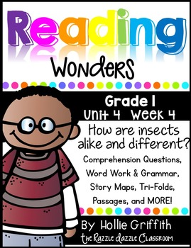 1st Grade Reading Wonders {Grade 1, Unit 4, Week 4}