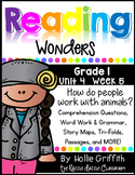 1st Grade Reading Wonders {Grade 1, Unit 4, Week 5}