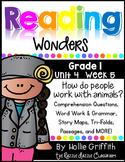 1st Grade Reading Wonders {Grade 1, Unit 4, Week 5}