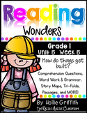 1st Grade Reading Wonders {Grade 1, Unit 5, Week 5}