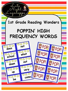 1st Grade Reading Wonders POPPIN' HIGH FREQUENCY WORDS game