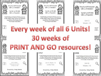 1st Grade Reading Wonders PRINT AND GO Guided Reading & An