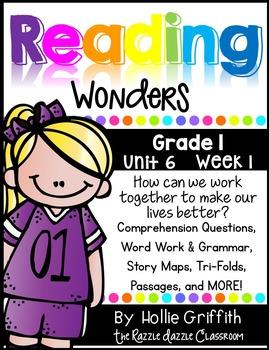 1st Grade Reading Wonders Supplement {Grade 1, Unit 6, Week 1}