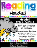 1st Grade Reading Wonders Supplement {Grade 1, Unit 6, Week 3}