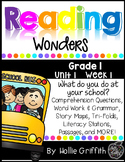 1st Grade Reading Wonders Supplement {Unit 1, Week 1}