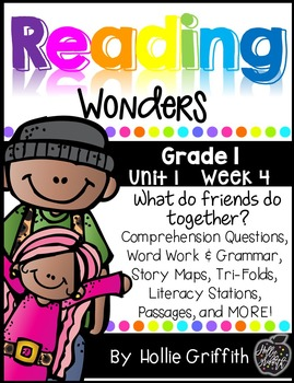 1st Grade Reading Wonders Supplement {Unit 1, Week 4}