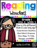 1st Grade Reading Wonders Supplement {Unit 3, Week 4}