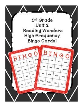 1st Grade Reading Wonders UNIT 2 High Frequency BINGO!