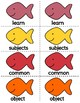 1st Grade Reading Wonders Unit 1-6 Oral Vocab & High Frequency Word Go Fish Game