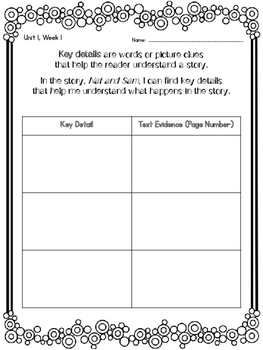 1st Grade Reading Wonders Unit 1 COMBO Guided Reading & Analytical Writing Pack