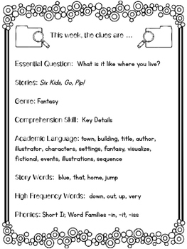1st Grade Reading Wonders Unit 1 Week 2 Guided Reading & Analytical Writing Pack