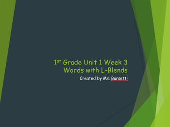 1st Grade Reading Wonders Unit 1 Weeks 1-5 Phonics Slide Shows