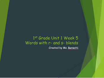 Phonics Slide Shows for Use with 1st Grade Wonders Unit 1 Weeks 1-5