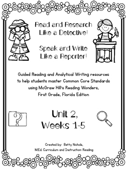 1st Grade Reading Wonders Unit 2 COMBO Guided Reading & An