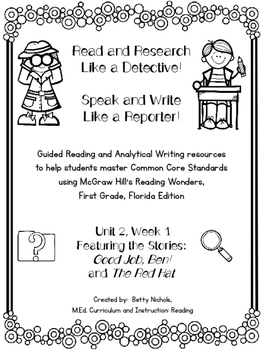 1st Grade Reading Wonders Unit 2 Week 1 Guided Reading & Analytical Writing Pack