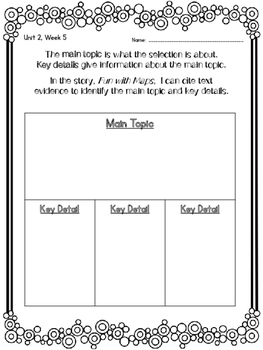 1st Grade Reading Wonders Unit 2 Week 5 Guided Reading & Analytical Writing Pack