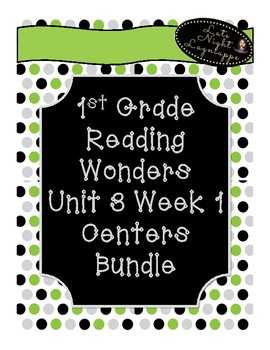 1st Grade Reading Wonders Unit 3 Week 1 Centers Pack!
