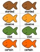 1st Grade Reading Wonders Unit 5 Oral Vocab & High Frequency Word Go Fish Game!
