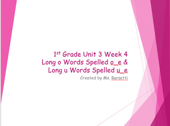 Phonics Slide Show Bundle for Use with 1st Grade Wonders Units 1-6 Weeks 1-5