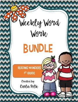 1st Grade Reading Wonders Weekly Word Work-The Bundle
