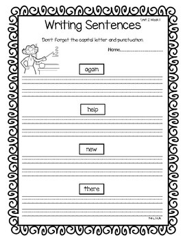 1st Grade Reading Wonders Weekly Word Work-Unit 2