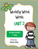 1st Grade Reading Wonders Weekly Word Work-Unit 2